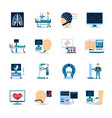 Medical Examination Icons Set vector image vector image