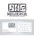 melody hand drawn logo design vector image vector image