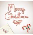 Merry Christmas dear santa sketchy letter vector image