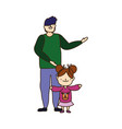 merry christmas father and daughter ugly sweater vector image vector image