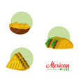 mexican food collection vector image