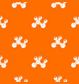 molecule bio pattern orange vector image vector image