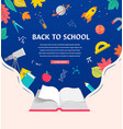 open book back to school concept vector image vector image