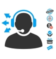 Operator Answer Speech Icon With Free Bonus vector image vector image