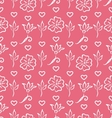 Pink Ornate Seamless Wallpaper for Valentines Day vector image vector image