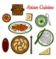 Popular thai dinner for asian cuisine design vector image vector image