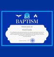 postcard christian baptism invitation