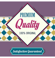 Premium Quality poster retro vintage design vector image vector image