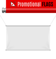 Promotional flag vector image vector image