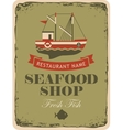 restaurant or seafood shop vector image vector image