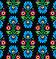 Seamless traditional floral Polish folk pattern vector image vector image