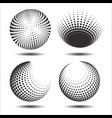 set abstract halftone 3d spheres 23 vector image vector image
