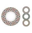 Set of mosaic plates vector image vector image