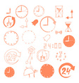 set sketch time icons vector image
