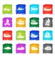 ships yachts and boats icons set vector image vector image