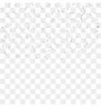 silver confetti vector image vector image