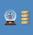 snow globe with a house under the snow vector image
