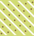 sparkly glam golden circles on a diagonal striped vector image