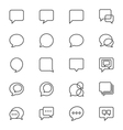 Speech bubble thin icons vector image vector image