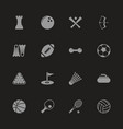 sport - flat icons vector image