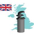 the british pound vector image