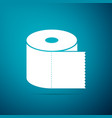 toilet paper roll icon isolated on blue background vector image vector image