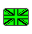uk flag icon vector image vector image