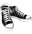 vintage black shoes sneakers vector image vector image