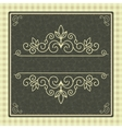 Vintage card with frame for cover or invitation vector image vector image