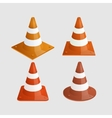 modern traffic cones icons set vector image