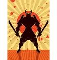Shadow Samurai vector image