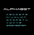 alphabet modern font space typeface minimalist vector image