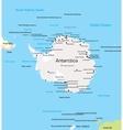 Antarctica Map vector image vector image