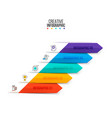 arrows infographics business concept vector image