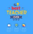 best teacher ever award on vector image vector image