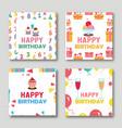 birthday cards set vector image