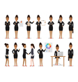 Black businesswoman people characters