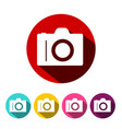 camera icon photographic equipment symbol vector image