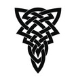 celtic national ornament tattoo vector image vector image