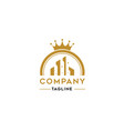 cleaning company with crown logo template vector image vector image