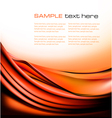 colorful orange abstract background vector image vector image