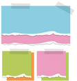 colorful papers on the wall vector image vector image