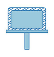 construction banner board icon vector image vector image