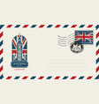 envelope with london big ben and flag of uk vector image vector image