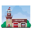fire station building vector image
