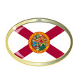 florida state flag oval button vector image vector image