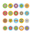Flowers and Floral Colored Icons 7 vector image vector image