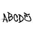 graffiti spray font alphabet part 1