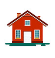 house icon building isolated on white background vector image vector image