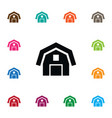 isolated barn icon hangar element can be vector image vector image